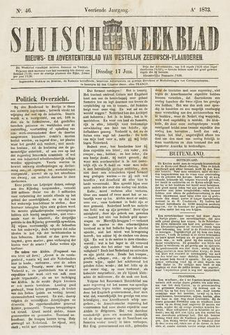Sluisch Weekblad. Nieuws- en advertentieblad voor Westelijk Zeeuwsch-Vlaanderen 1873-06-17