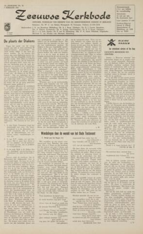 Zeeuwsche kerkbode, weekblad gewijd aan de belangen der gereformeerde kerken/ Zeeuwsch kerkblad 1962-02-09