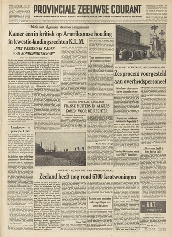 Provinciale Zeeuwse Courant 1960-02-10