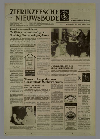Zierikzeesche Nieuwsbode 1981-11-27