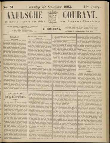 Axelsche Courant 1903-09-30