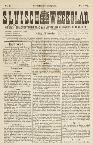 Sluisch Weekblad. Nieuws- en advertentieblad voor Westelijk Zeeuwsch-Vlaanderen 1876-11-24