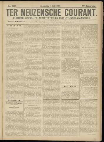 Ter Neuzensche Courant. Algemeen Nieuws- en Advertentieblad voor Zeeuwsch-Vlaanderen / Neuzensche Courant ... (idem) / (Algemeen) nieuws en advertentieblad voor Zeeuwsch-Vlaanderen 1927-07-04