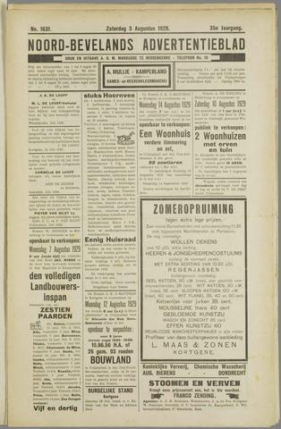 Noord-Bevelands Nieuws- en advertentieblad 1929-08-03