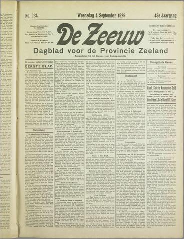 De Zeeuw. Christelijk-historisch nieuwsblad voor Zeeland 1929-09-04