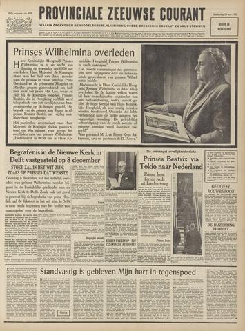 Provinciale Zeeuwse Courant 1962-11-29