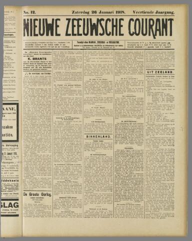 Nieuwe Zeeuwsche Courant 1918-01-26