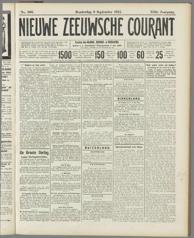 Nieuwe Zeeuwsche Courant 1915-09-09