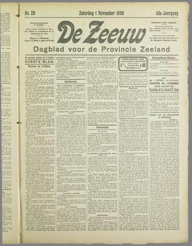 De Zeeuw. Christelijk-historisch nieuwsblad voor Zeeland 1930-11-01