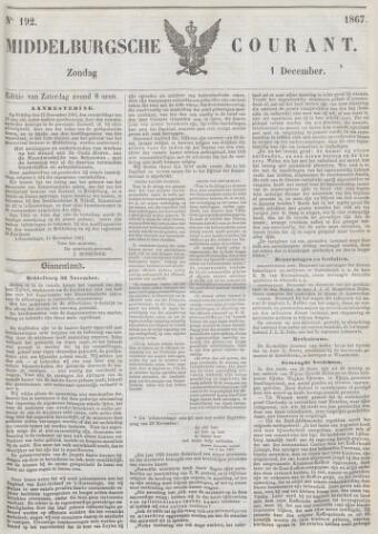 Middelburgsche Courant 1867-12-01