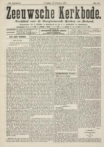 Zeeuwsche kerkbode, weekblad gewijd aan de belangen der gereformeerde kerken/ Zeeuwsch kerkblad 1918-10-18