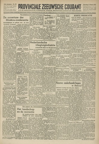 Provinciale Zeeuwse Courant 1947-03-15
