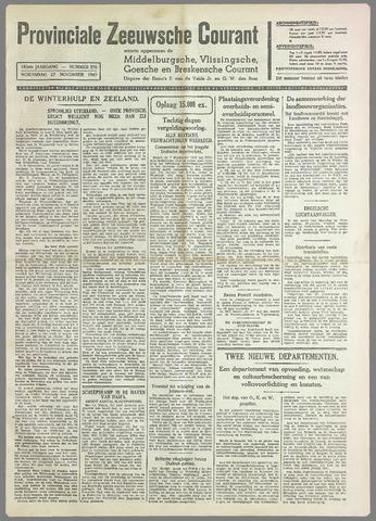 Provinciale Zeeuwse Courant 1940-11-27
