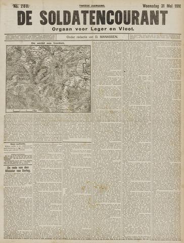 De Soldatencourant. Orgaan voor Leger en Vloot 1916-05-31