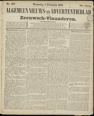 Ter Neuzensche Courant. Algemeen Nieuws- en Advertentieblad voor Zeeuwsch-Vlaanderen / Neuzensche Courant ... (idem) / (Algemeen) nieuws en advertentieblad voor Zeeuwsch-Vlaanderen 1869-02-03