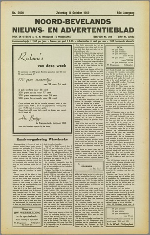 Noord-Bevelands Nieuws- en advertentieblad 1952-10-11
