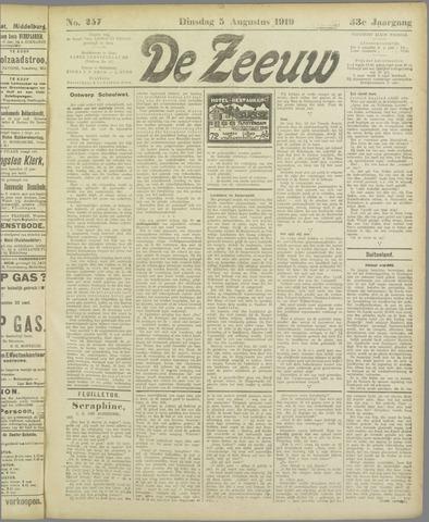 De Zeeuw. Christelijk-historisch nieuwsblad voor Zeeland 1919-08-05