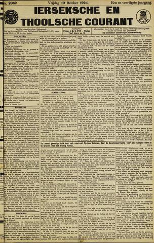 Ierseksche en Thoolsche Courant 1924-10-10
