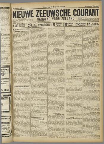 Nieuwe Zeeuwsche Courant 1922-09-27