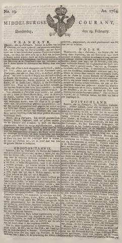 Middelburgsche Courant 1764-02-23
