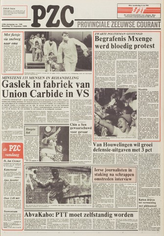 Provinciale Zeeuwse Courant 1985-08-12