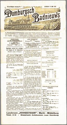 Domburgsch Badnieuws 1937