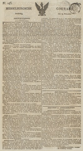 Middelburgsche Courant 1827-11-29