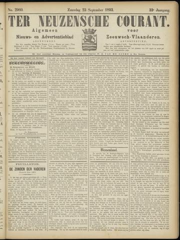 Ter Neuzensche Courant. Algemeen Nieuws- en Advertentieblad voor Zeeuwsch-Vlaanderen / Neuzensche Courant ... (idem) / (Algemeen) nieuws en advertentieblad voor Zeeuwsch-Vlaanderen 1893-09-23