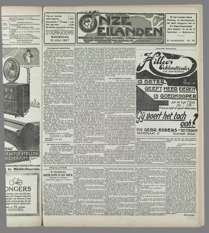 Onze Eilanden 1927-07-13