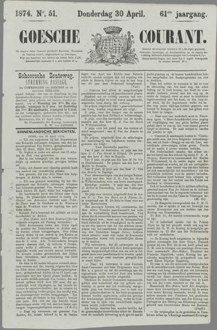 Goessche Courant 1874-04-30