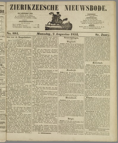 Zierikzeesche Nieuwsbode 1852-08-02