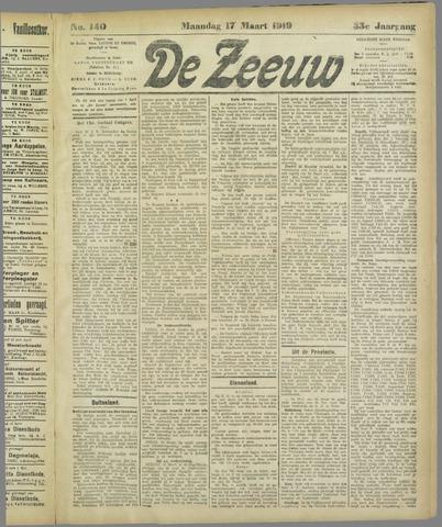 De Zeeuw. Christelijk-historisch nieuwsblad voor Zeeland 1919-03-17