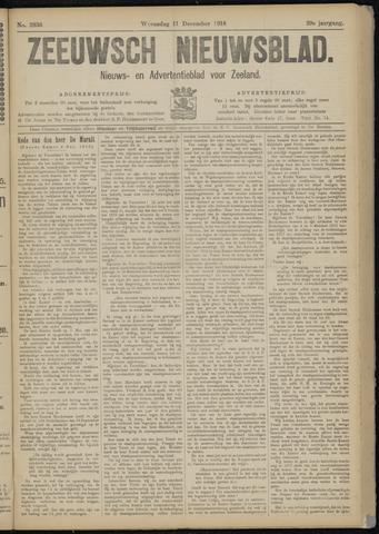 Ter Neuzensch Volksblad. Vrijzinnig nieuws- en advertentieblad voor Zeeuwsch- Vlaanderen / Zeeuwsch Nieuwsblad. Nieuws- en advertentieblad voor Zeeland 1918-12-11