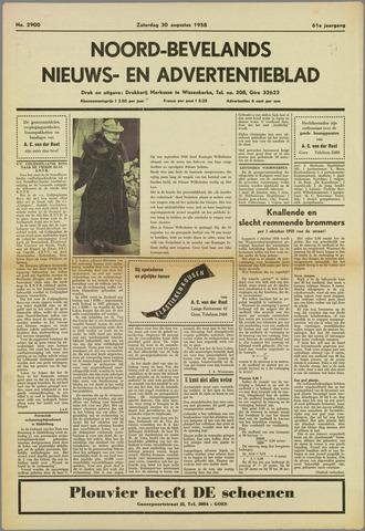Noord-Bevelands Nieuws- en advertentieblad 1958-08-30
