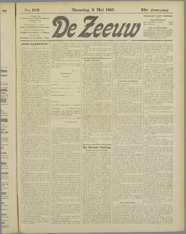 De Zeeuw. Christelijk-historisch nieuwsblad voor Zeeland 1915-05-03