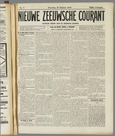 Nieuwe Zeeuwsche Courant 1909-01-16