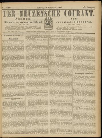 Ter Neuzensche Courant. Algemeen Nieuws- en Advertentieblad voor Zeeuwsch-Vlaanderen / Neuzensche Courant ... (idem) / (Algemeen) nieuws en advertentieblad voor Zeeuwsch-Vlaanderen 1907-11-09