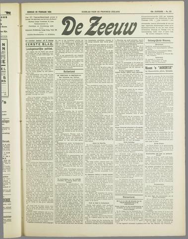 De Zeeuw. Christelijk-historisch nieuwsblad voor Zeeland 1934-02-20