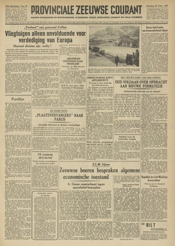 Provinciale Zeeuwse Courant 1951-02-20