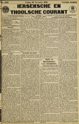 Ierseksche en Thoolsche Courant 1923-11-30