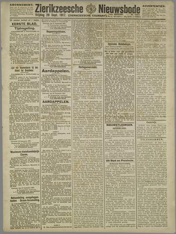Zierikzeesche Nieuwsbode 1917-09-28