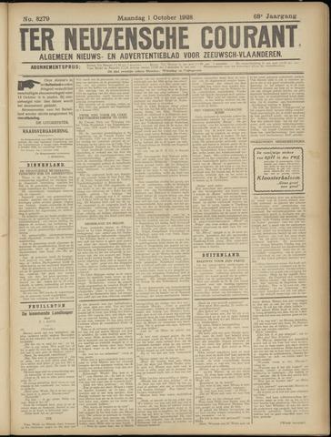 Ter Neuzensche Courant. Algemeen Nieuws- en Advertentieblad voor Zeeuwsch-Vlaanderen / Neuzensche Courant ... (idem) / (Algemeen) nieuws en advertentieblad voor Zeeuwsch-Vlaanderen 1928-10-01