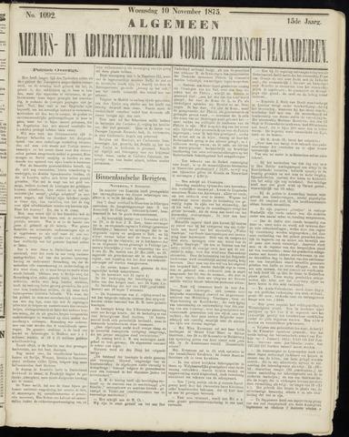 Ter Neuzensche Courant. Algemeen Nieuws- en Advertentieblad voor Zeeuwsch-Vlaanderen / Neuzensche Courant ... (idem) / (Algemeen) nieuws en advertentieblad voor Zeeuwsch-Vlaanderen 1875-11-10