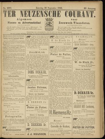 Ter Neuzensche Courant. Algemeen Nieuws- en Advertentieblad voor Zeeuwsch-Vlaanderen / Neuzensche Courant ... (idem) / (Algemeen) nieuws en advertentieblad voor Zeeuwsch-Vlaanderen 1896-09-26