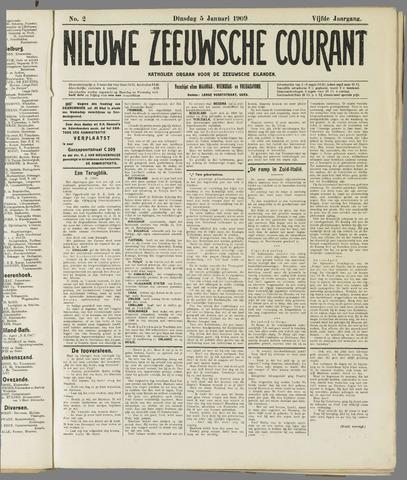 Nieuwe Zeeuwsche Courant 1909-01-05