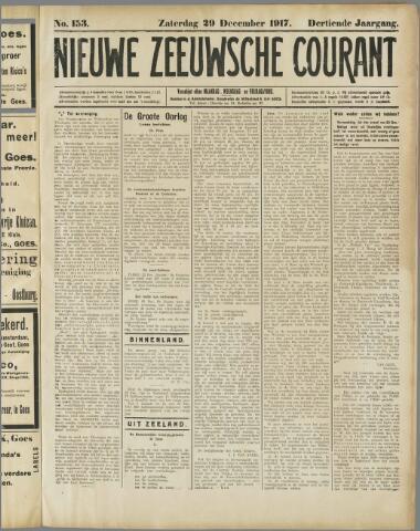 Nieuwe Zeeuwsche Courant 1917-12-29
