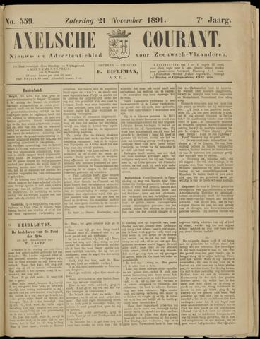Axelsche Courant 1891-11-21