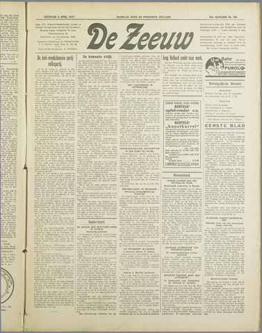 De Zeeuw. Christelijk-historisch nieuwsblad voor Zeeland 1937-04-03