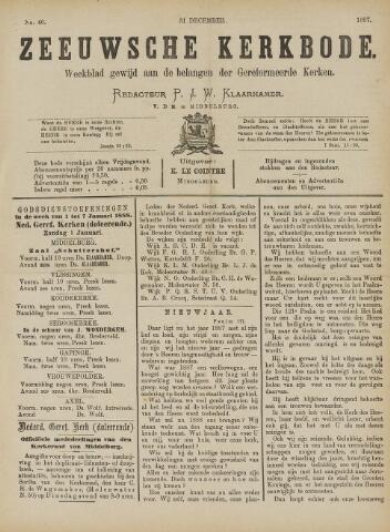 Zeeuwsche kerkbode, weekblad gewijd aan de belangen der gereformeerde kerken/ Zeeuwsch kerkblad 1887-12-31
