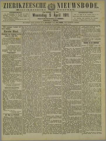 Zierikzeesche Nieuwsbode 1911-04-05